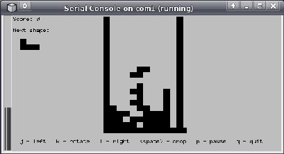 Tetris on Simics T2000 server